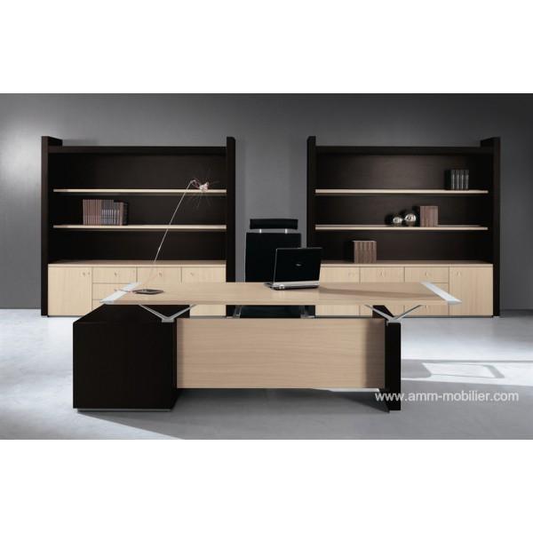 bureau de direction abc finition ch ne clair par babini. Black Bedroom Furniture Sets. Home Design Ideas