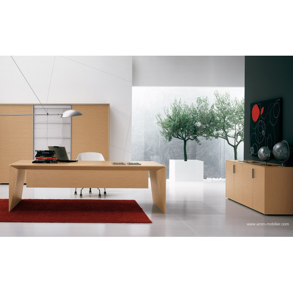 bureau de direction eracle finition ch ne clair par alea. Black Bedroom Furniture Sets. Home Design Ideas