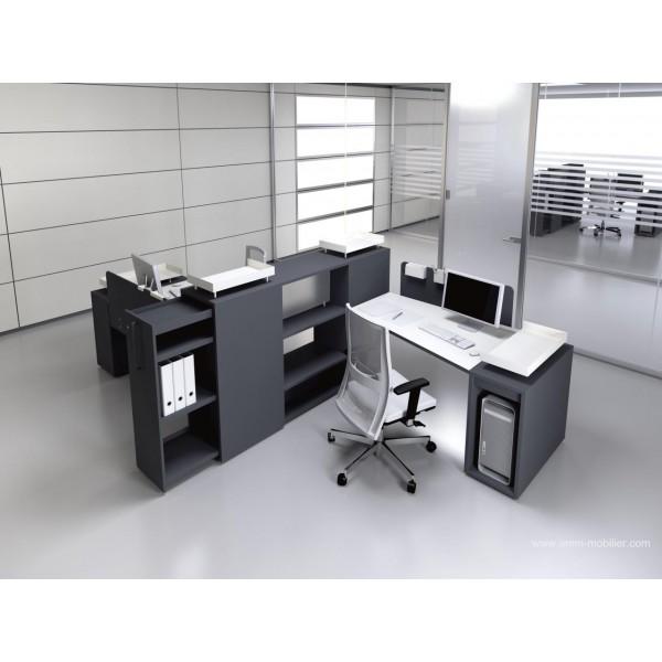 Bureau op ratif trap ze logic noir et blanc fabricant las - Bureau noir et blanc ...