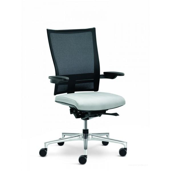 fauteuil de direction noir et blanc orbit network par kl ber. Black Bedroom Furniture Sets. Home Design Ideas