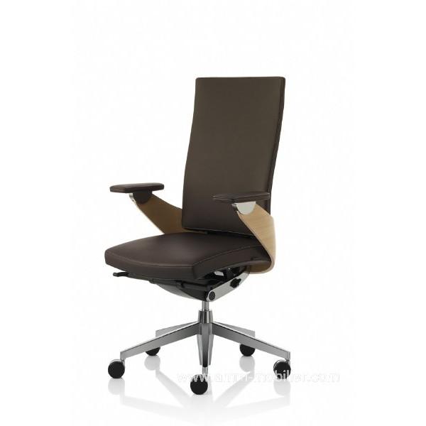 fauteuil de direction lusso luxe marron dossier haut par z co. Black Bedroom Furniture Sets. Home Design Ideas