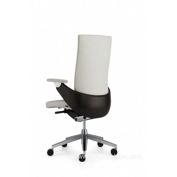fauteuil de direction lusso luxe blanc dossier haut par z co. Black Bedroom Furniture Sets. Home Design Ideas