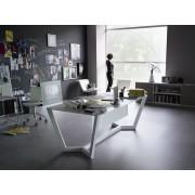 bureau de direction lorca finition laqu blanc par sellex. Black Bedroom Furniture Sets. Home Design Ideas