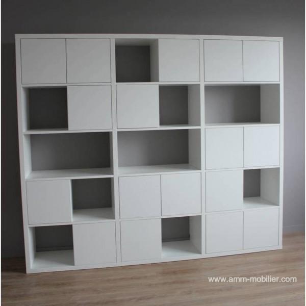 Armoire Sur Mesure Cubes Finition Blanc Mat N 2