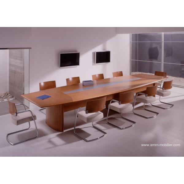 Table de r union numen finition placage mukali bois weng - Table de reunion design ...