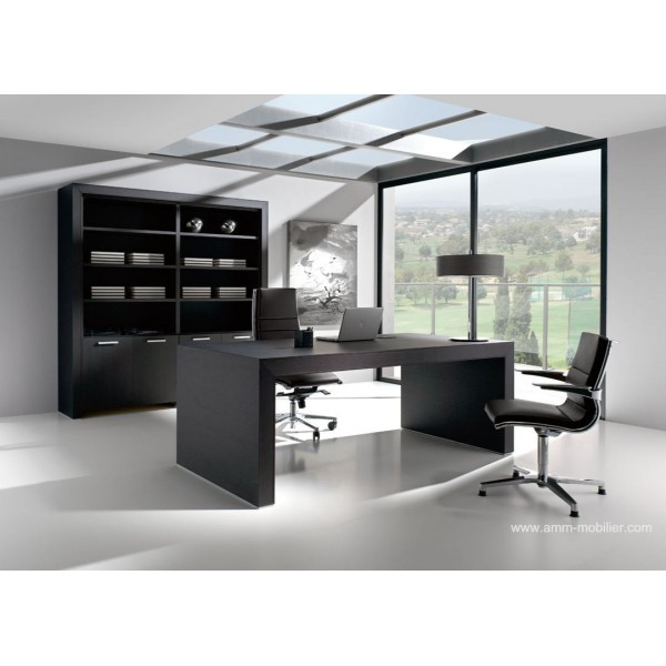 bureau de direction belesa finition ch ne noir par ofifran. Black Bedroom Furniture Sets. Home Design Ideas