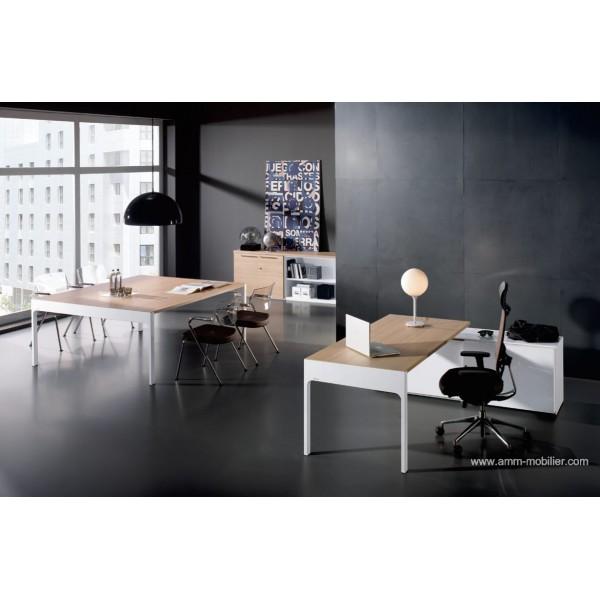 bureau de direction lancewood finition ch ne clair par ofifran. Black Bedroom Furniture Sets. Home Design Ideas