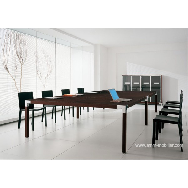 Table de r union rectangulaire hydra finition weng par ora acciaio - Table rectangulaire wenge ...