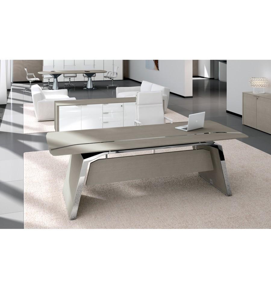 bureau de direction metar en ch ne gris. Black Bedroom Furniture Sets. Home Design Ideas